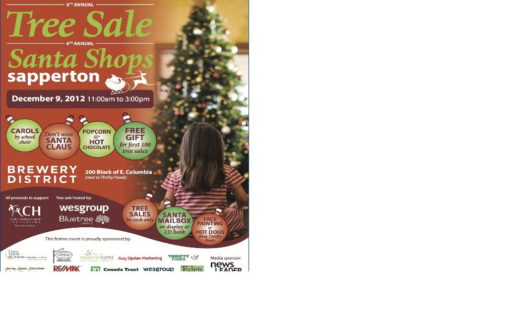 Santa Shops Sapperton Christmas Tree Sale New Westminster